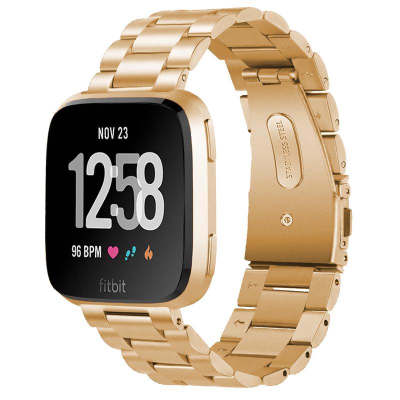 Fitbit에 대한 스테인레스 스틸 시계 밴드 Versa3 / Sense Smart Watch Strap Wristbands 3 비드 밴드 교체도 마당 3
