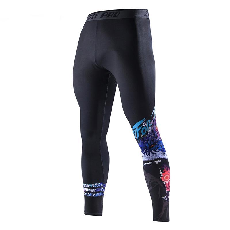 Hommes Bodybuilding Pantalons de compression Sport Pantalon Skinny Fashion Casual Fitness Sportswear Pantalon Pantalon d'entraînement Eslastique rapide