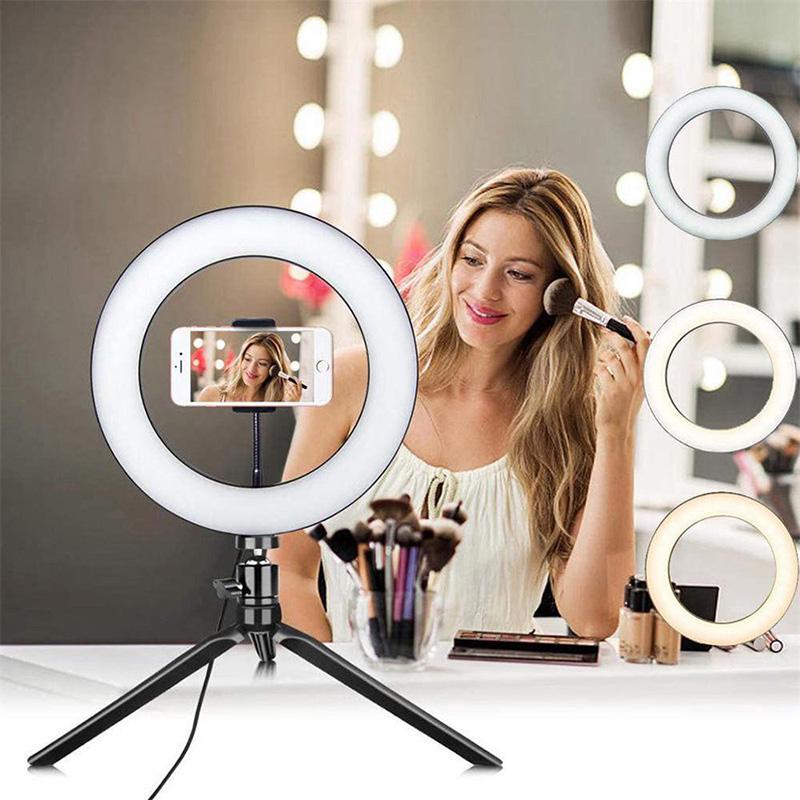 Foto LED selfie vara Anel Fill 10 polegadas Luz Regulável Camera Phone Lamp Anel Para A Composição de vídeo ao vivo Estúdio