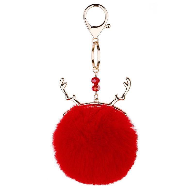 1 PCS Moda Bola de Pelúcia Keychain DIY Jóias Cortina Garments Acessórios Decorativos Chaveiro Bolsa Bolsa Pingente Craft Tassels H BbyDKQ