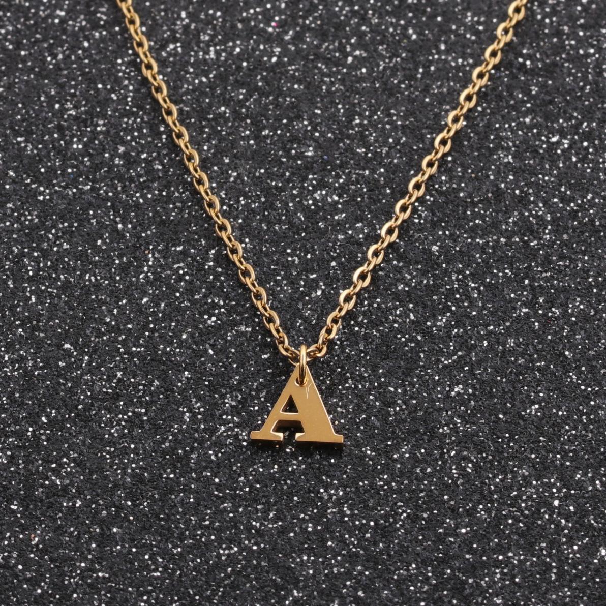Mode neue Buchstaben Halskette Edelstahl Halsketten