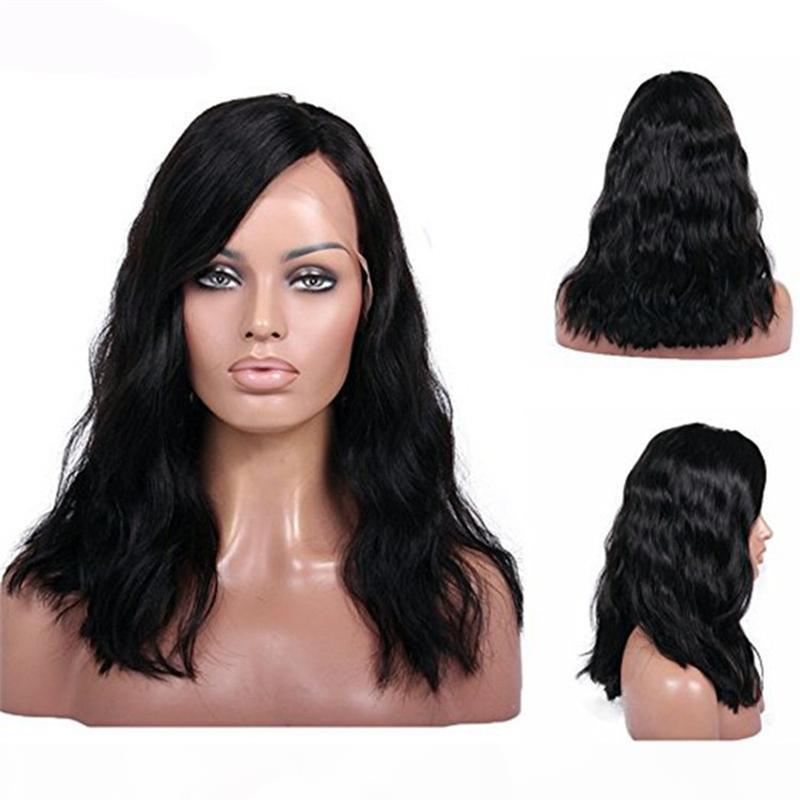 Peluca floja Zhifan mayorista 10-24Inch Negro largo del frente del cordón rizado de la onda de la peluca del pelo humano para las mujeres