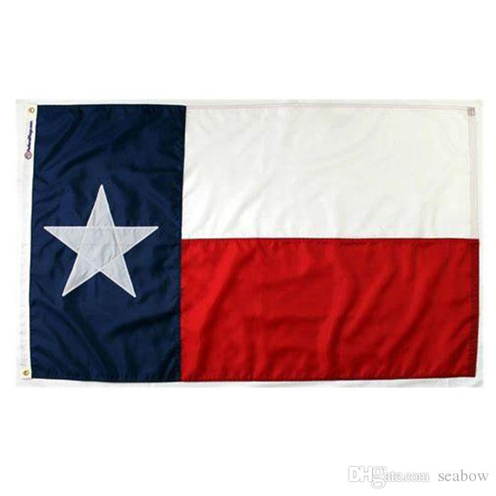 Texas-Flagge Staat USA Banner 3x5 FT 90x150cm State Flag Festival-Party-Geschenk 100D Polyester Indoor Outdoor Printed Heißer Verkauf