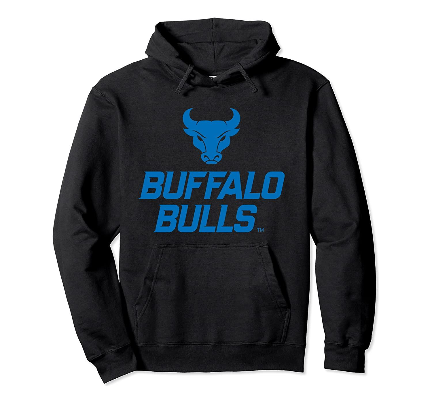 Università di Buffalo Bulls NCAA con cappuccio unisex S-5XL Nero / Grigio / Navy / Royal Blue / Scuro Heather PPBUF05