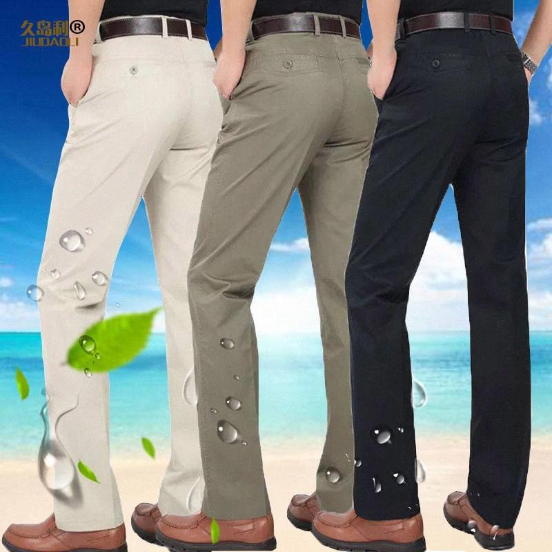 Los pantalones de vestir color caqui Oficial de Negocios 2020 2020 Traje Nuevo Hombre Pantalones Boutique de la manera algodón sólido formal del novio del vestido de boda Pantalones n3v2 #
