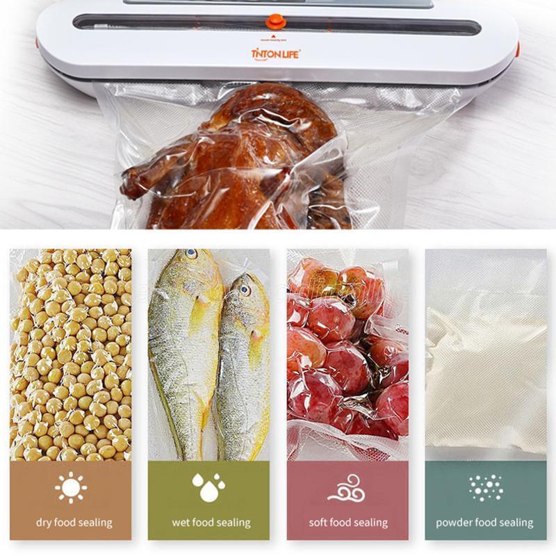 TontonLife 100 adet / grup Vakum Torbaları Gıda Vakum Mühürleyen Çanta Paketleme Makinesi Gıda Saklama Çantası Gıda Sınıfı Malzemesi ile FY7407-10