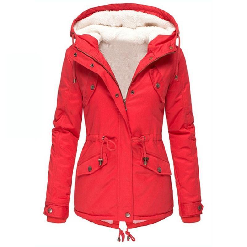Mulheres Jacket Jacket Womens Inverno Mulheres Winter Plus Size sólido Brasão cores de Down Long Sleeve Zipper bolso do casaco # 40%