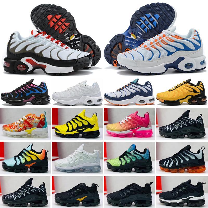 Nike Air Max TN Scarpe da corsa per bambini Sneakers triple nere per bambini Rainbow Scarpe sportive per bambini ragazze e ragazzi Scarpe da ginnastica per tennis di alta qualità