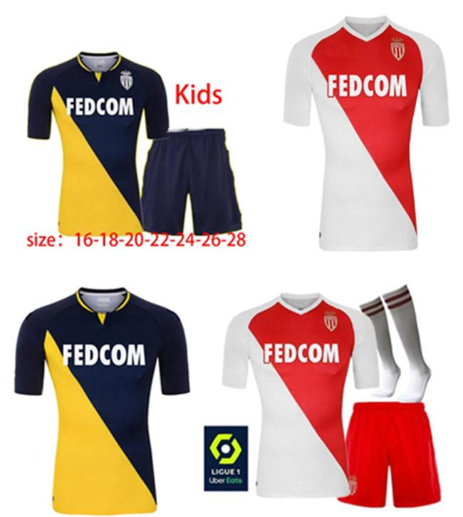 AS Monaco Football Sportswear Maillots de Foot 20 21b.Badiashile Ben Yedder Gelson Fabrics Logo Camicia da calcio da uomo personalizzato