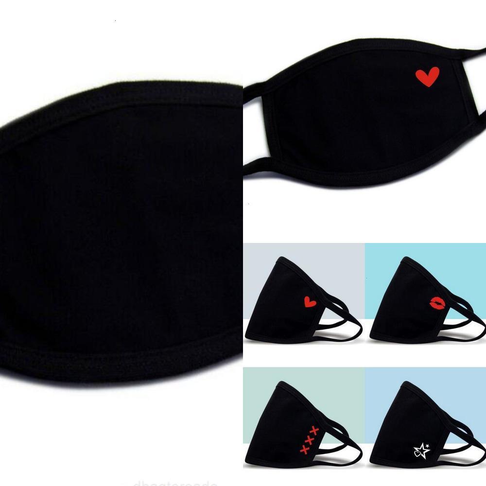 Rosto respirável 18 Máscara estilo lavável Novo de pano de luxo moda na moda unisex impressão reutilizável anti-poeira anti-poeira