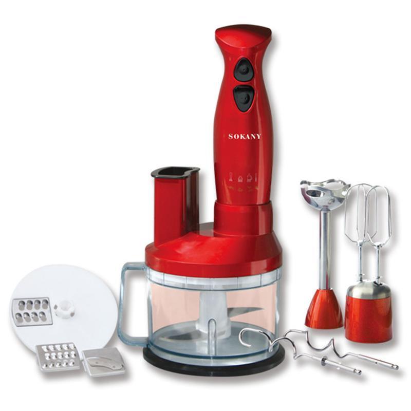 Suplemento SOKANY hogar mezclador eléctrico de mano Mezclador Blender bebé procesador mezclador de cocina Grinder enchufe de la UE