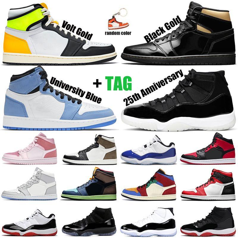 retro 11 1 11s 1s  Scarpe da basket 11s 1s Sneaker da uomo sportive da esterno da uomo color grigio Union Concord allevate da uomo