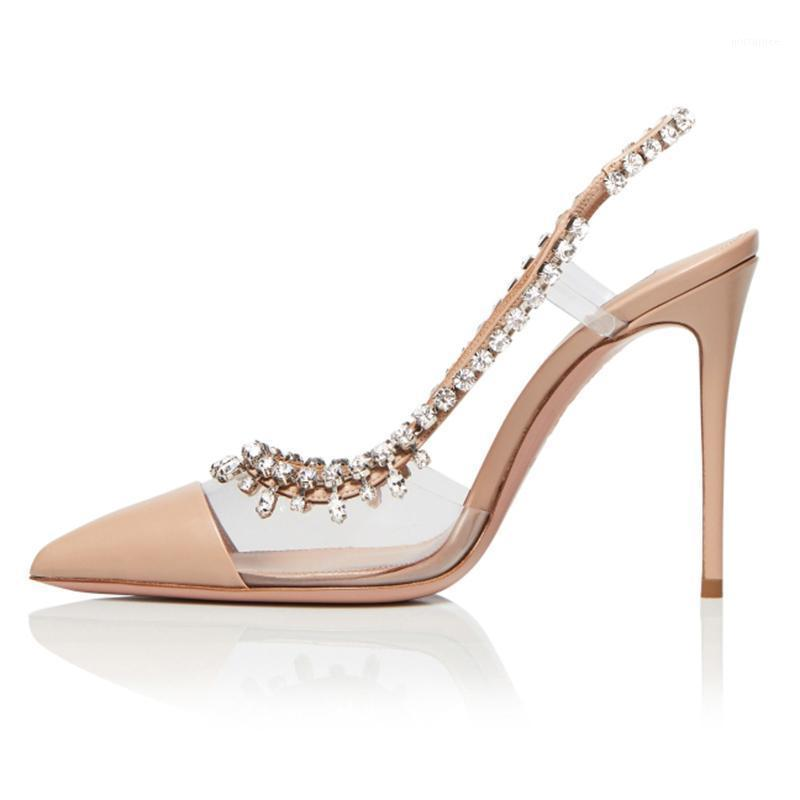 2020 Spring Pointed Toe Pumps Women PU Rhinestone High Heels Shoes Women Fashion Ladies Shoes Zapatos De Mujer Sapato Feminine1