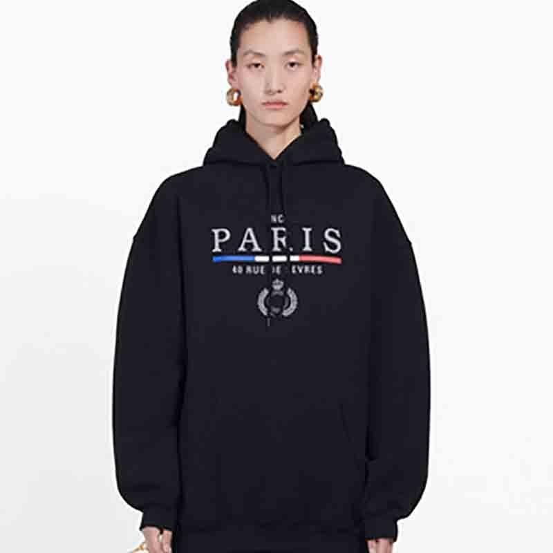19FW Crown BL Letters Stickerei Sweatshirt Männer Frauen Mode Hoodie Winter-Street Pullover Pullover Homme Kleidung S-XL