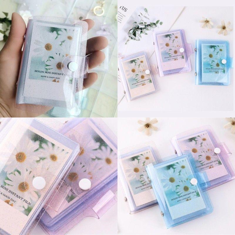 Álbum de fotos de color de jalea para mini tarjetas Pegatinas Álbumes Fotos Instax Tarjetas de brillo transparente Titular 247 N2