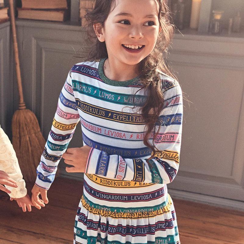 Metros de salto Nuevas letras de llegada Vestidos de algodón Ropa para niños para otoño primavera Party Princess Girls Vestidos Largos Drocks J2Y3 #
