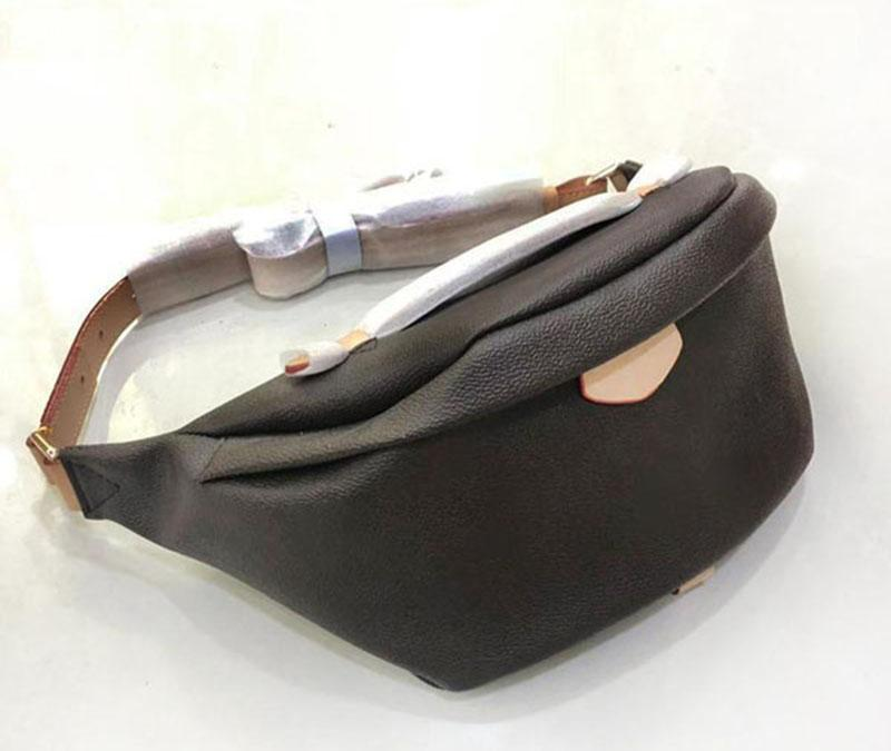 M43644 Melhor Qualidade Real Couro Bumbag Waistpacks Mulheres Saco De Cinto De Moda Zipper Crossbody Bag Men Sports Cintura Sacos de data