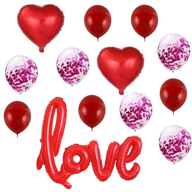 Романтические латексные шары в форме сердца в форме сердца в форме фольга на день Святого Валентина свадьба на день рождения украшения jk2101xb