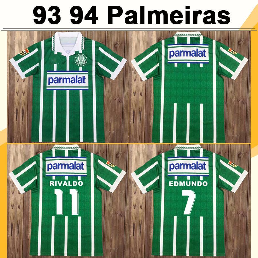 1993 1994 Palmeiras R. CARLOS EDMUNDO Retro Mens Soccer Jerseys ZINHO RIVALDO EVAIR Home Football Shirts Mens Uniforms Camisas de Futebol