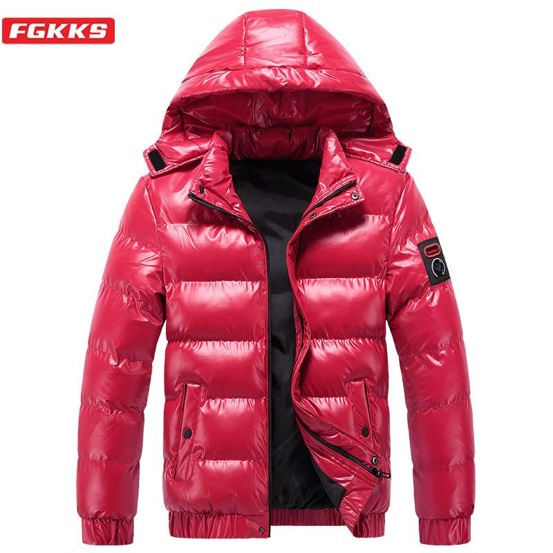FGKKS Winter New Men Solid Color Hoodies Parkas Quality Brand Men's Stand Warm Thick Jacket Male Casual Hoodies Parka Coat 201028