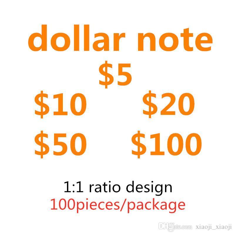 Le plus réaliste faux jeu accesseur argent argent billets de banque d'enfants jouets pour enfants jeu de jeu de jeu spécial faux accessoires USD Dollars USA Money-G LUWCC