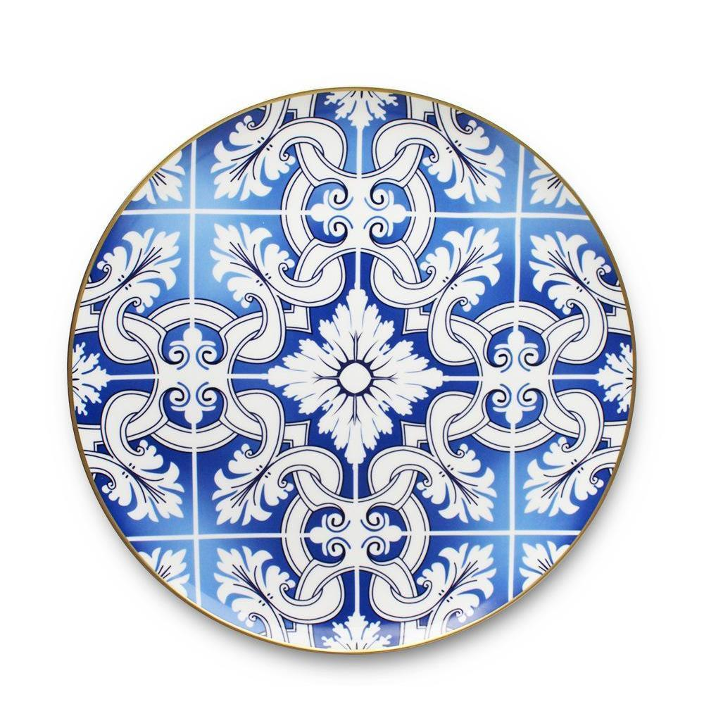 Modern os Chine Dîner Ware Gold RIM Vaisselle Ensembles plaque de mariage en céramique occidental ou jllwfp bdedome