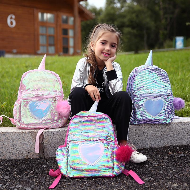 Sac à dos Escolar Sacâtres Sacs d'école Filles Mujer Sequins Mini Mochila Enfants Scônes Schools Sac à dos Back Pack Femmes Cute Bagpack Girl Srtfk