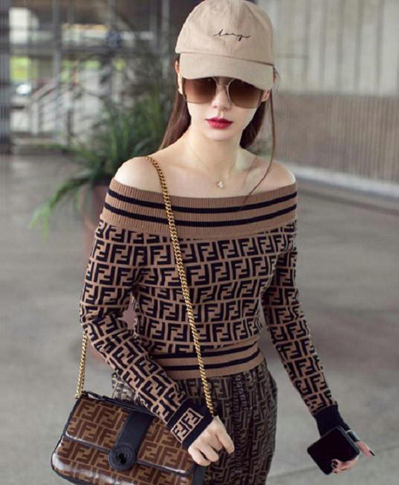 2020 جديد مصمم فاخر وصول سترة للمرأة البلوز رسالة مزدوجة F الخريف الشتاء امرأة ترتدي طوق سترة الملابس البلوز