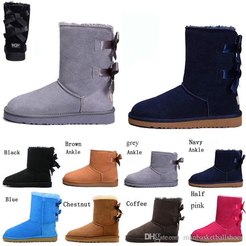 Nuovi Arrivi Arrival Bank Stivali Low Stivali di alta qualità Grigio Nero Cioccolato Marrone Boots Stivali invernali Stivali da neve Dimensioni 40-45
