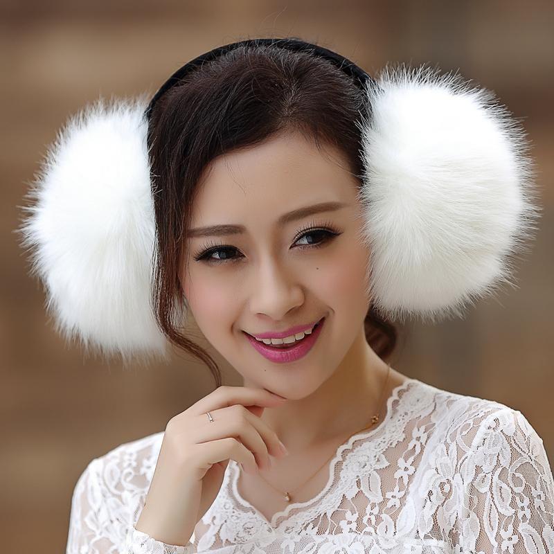 large faux fur earmuff unisex men women lovers winter earmuffs fluffy eye warm protection earmuffs imitation fur earmuff