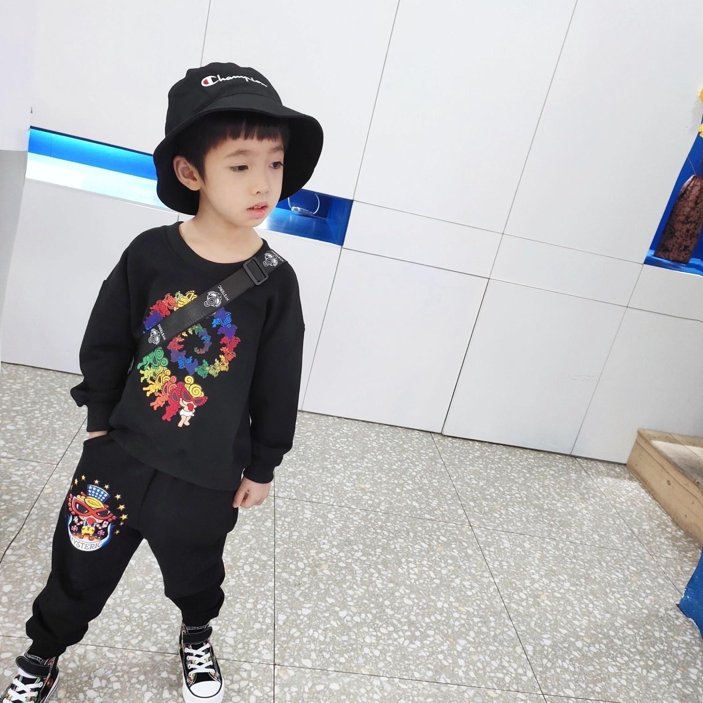 Hochwertige Kinder Kleidung Sets Kindkleidung Junge Tops Jacke Sweatshirt Pullover Hosen Hosen 2pcs setsAN0X
