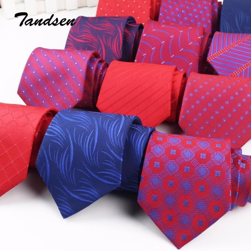 8cm Weinrot Männer Frauen Wedding Bindung Business Tie Formal gestreifte Jacquard Krawatte Klassische Corbata Krawatten Gravata