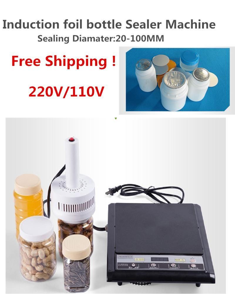 Бесплатная доставка Портативный электромагнитной индукции алюминиевой фольги запайки бутылки Sealer 20-100mm