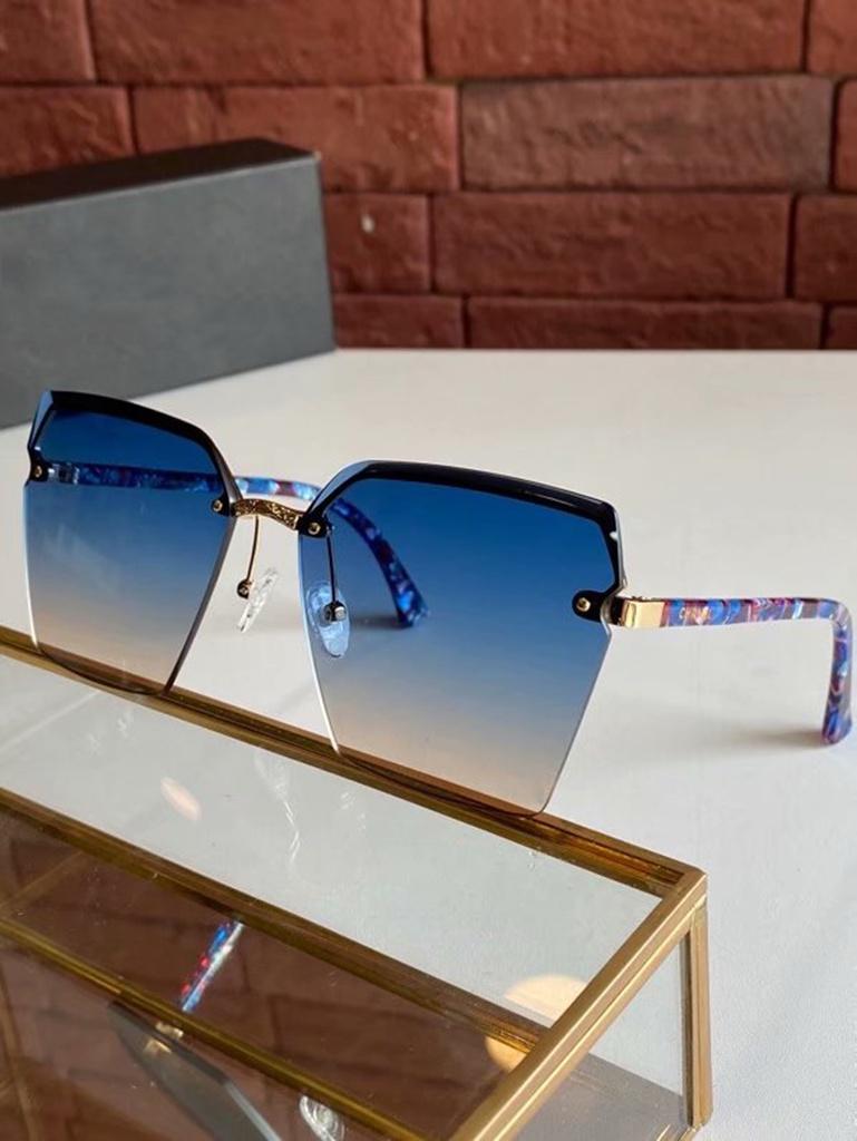HD UV Sun Designer Visière Hommes Sunglasses Fashion Ocean High Cadre Femmes Qualité Lunettes de soleil Protection Lentilles de soleil HD Lunettes de soleil avec demi-kajq