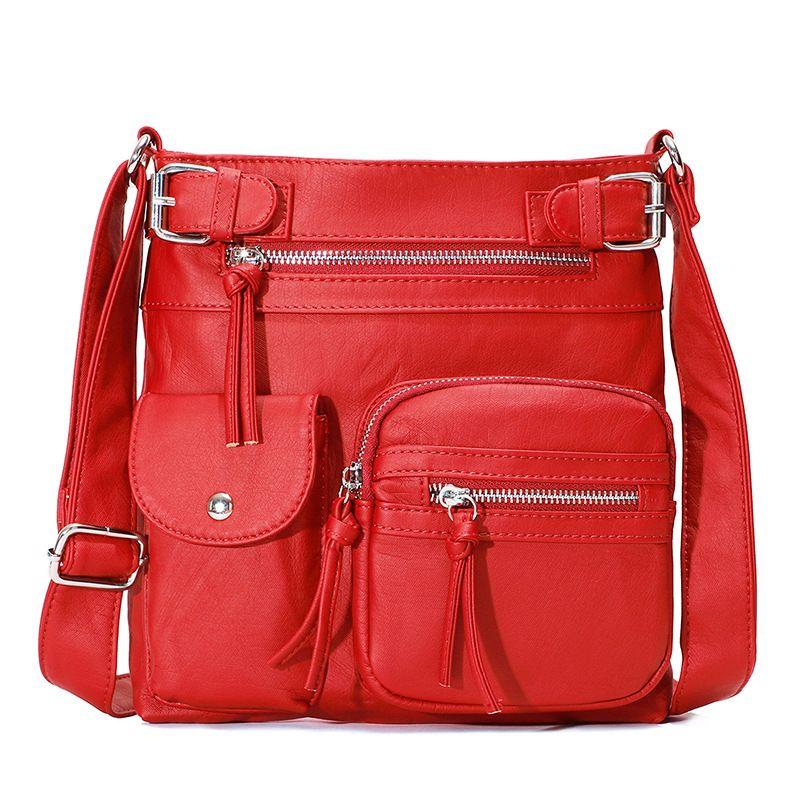 Cross-border new multi-functional women's shoulder bag fashion small bag slanting across the European and American fashion small square bag