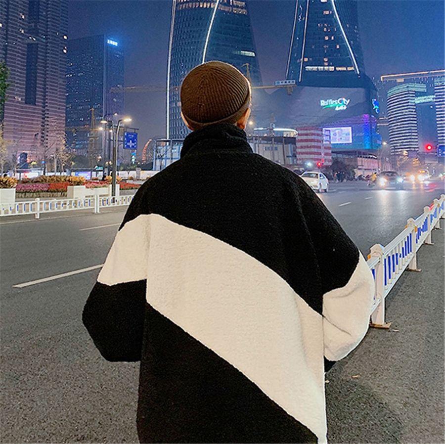 Fasion IG QLI Зима Новый Natcing Color LA LAM Хлопок мягкое пальто Мужской Корейский Версия Свободная Куртка Студенты Ong Kong S-3XL # 208 # 44212