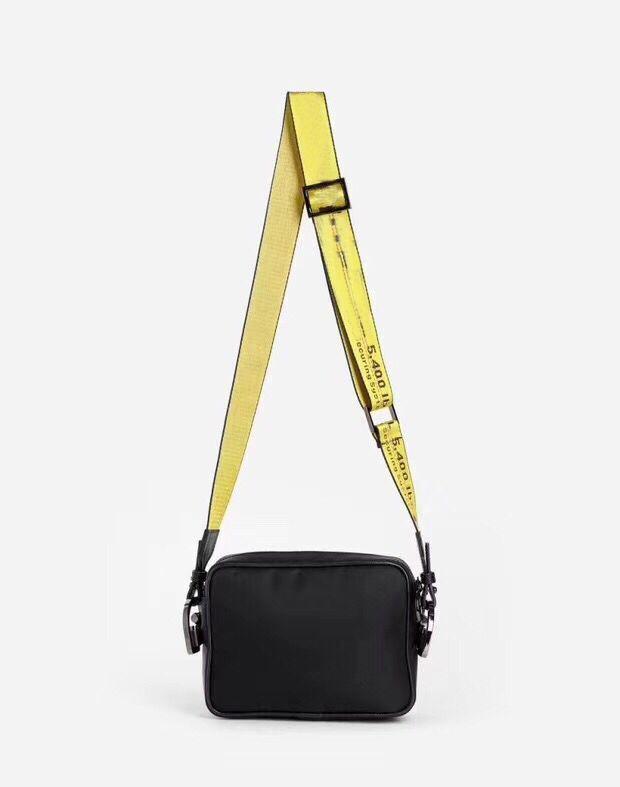 2323 New 2020 브랜드 미니 남성 노란색 캔버스 벨트 화이트 숄더 가방 가슴 가방 허리 가방 다용도 가방 숄더백 메신저