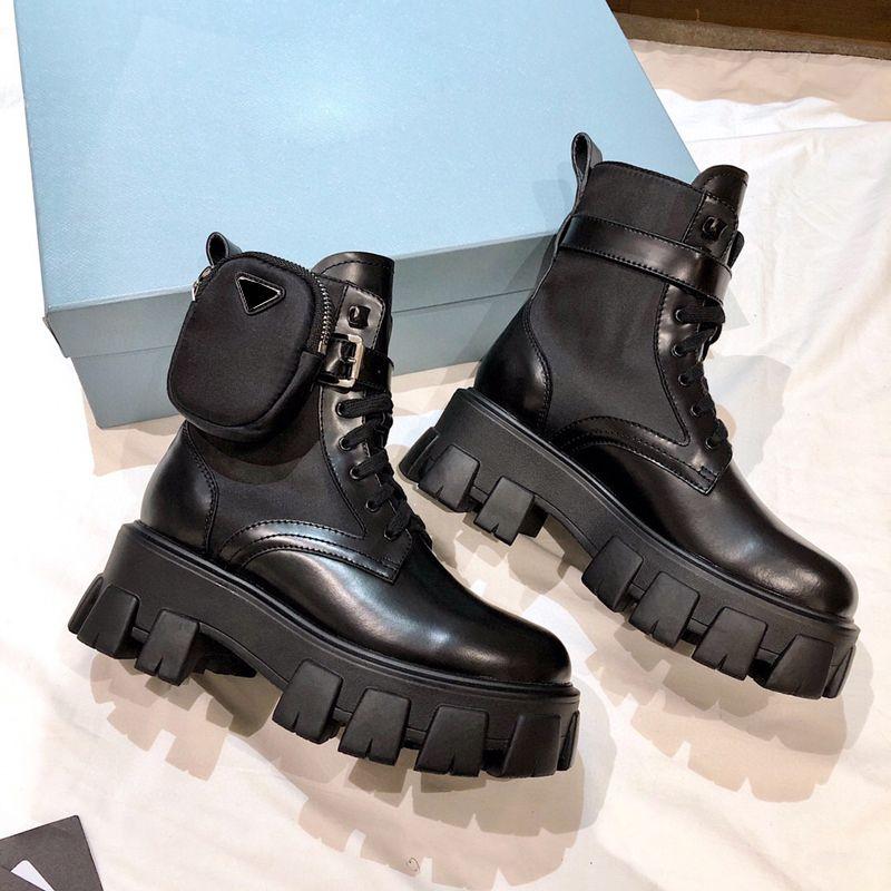 New Donne Designer Rois Boots Stivali da caviglia Martin Boots e boot in nylon Stivali da combattimento ispirati militari in nylon Bouch in nylon attaccato alla caviglia con cinturino