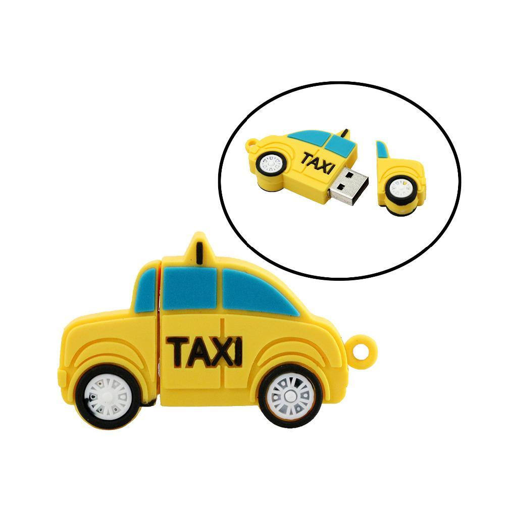 Taxi Pen Drive Card USB Flash Drive Usb Flash Taxi 4GB 8GB 16GB 32G Usb Stick Yellow Cab Memory Storage Card Mini Gift