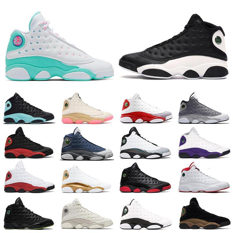2020 Новые 13 13s Обувь белый рос зеленый розовый обратный он получил игру Flint Grey Toe Jumpman Mens Trainers спортивные кроссовки