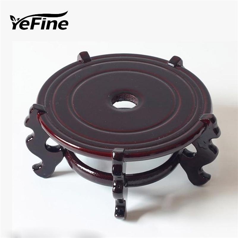 Yefine Vintage Home Decor Ceramic Цветочные вазы стойки Антикварные традиционные китайский синий и белый фарфоровый ваза держатель подставки LJ201210
