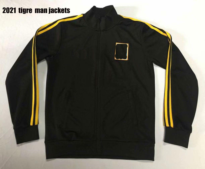 Tigres Tigres jaquetas de futebol treino pretas 20 21 México Club Vargas H. Ayala camisa de futebol top jaqueta camisas