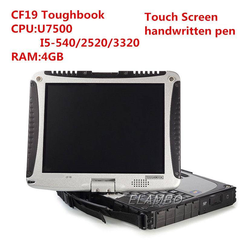 2020 laptop Hot diagnóstico para Panasonic CF-19 4GB RAM com HDD de 80 GB trabalho pode para alldata estrela mb macio-ware c4 c5 c6