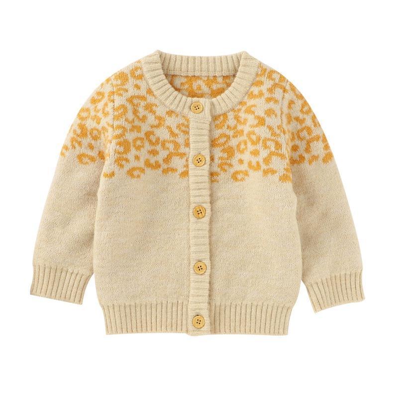 Neugeborenes Baby Kleidung Langarm Strickpullover Cardigan Oberbekleidung Kleinkind Casual Tops3