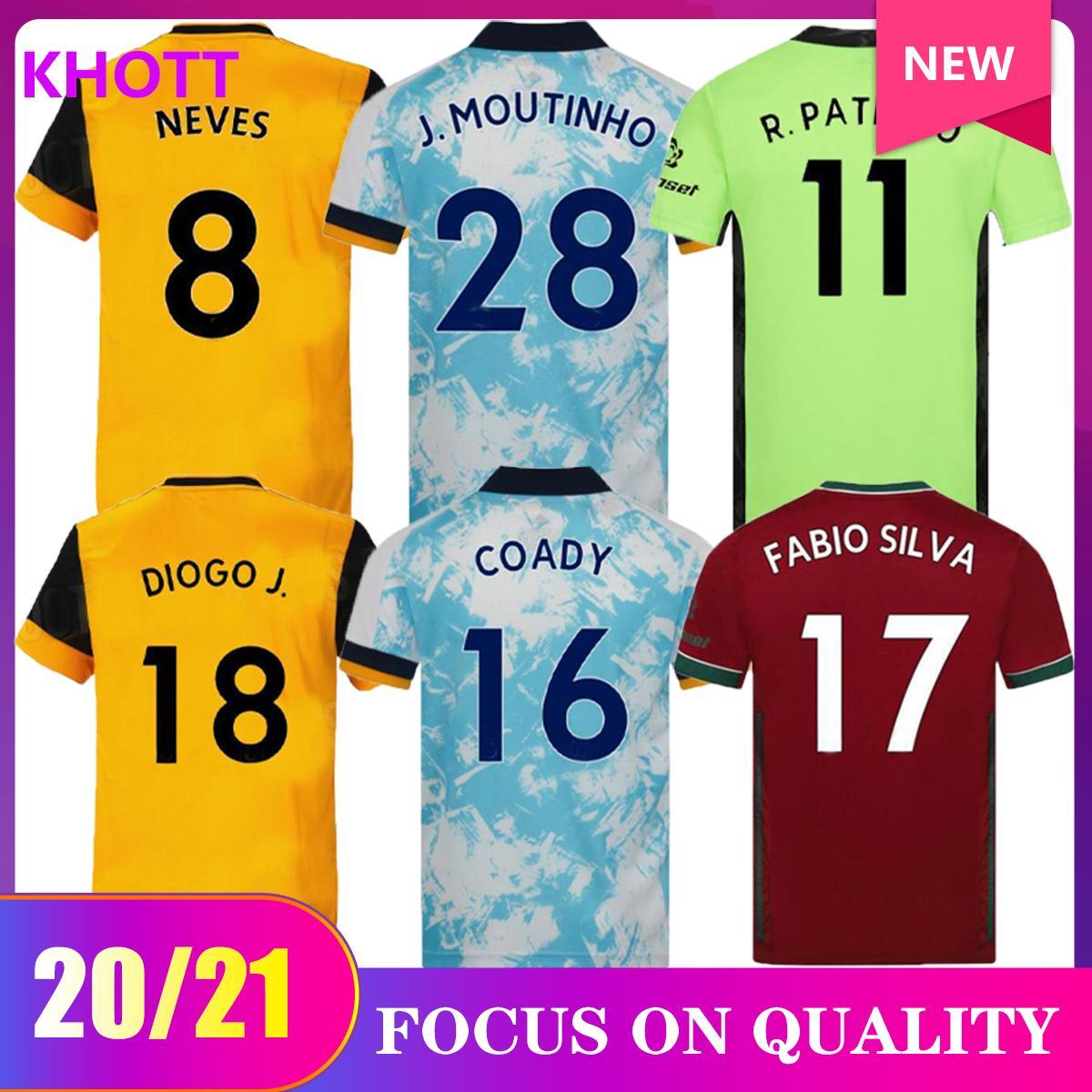 2020 2021 Wolves Neves Raul Terza Terza maglie da calcio 20-21 ADAMA DIogo J. Coady Neto Podence Doherty Boly J.otto Casa Away Camicia da calcio