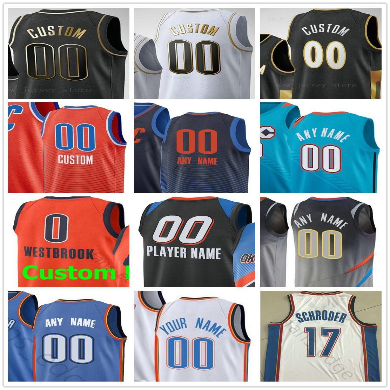 Custom Impresso Oklahoma City Shai 2 Gilgeous-Alexander Aleksej 17 Pokusevski Maledon Vit Krejci Homens Mulher Kids Thunder Basketball Camisas