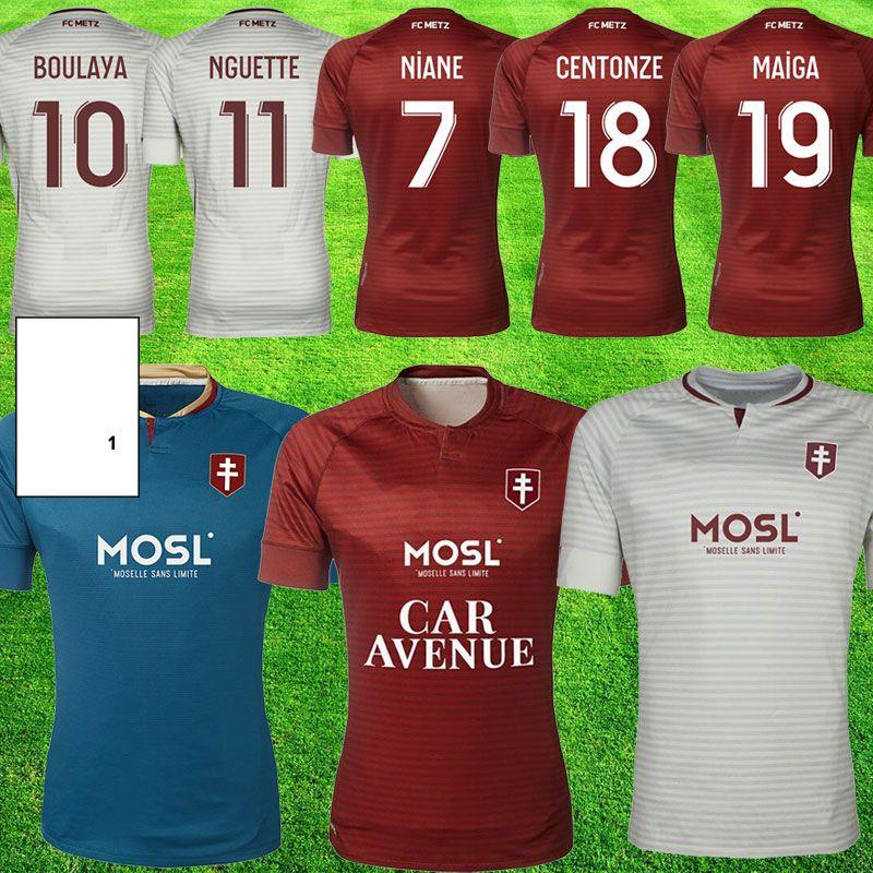 20 21 Mailleot FC Metz Soccer Jerseys Centonze 18 Vagner 27 Niane 7 Fofana 6 Home 2020 2021 Mailleot De Foot Foot Shirts