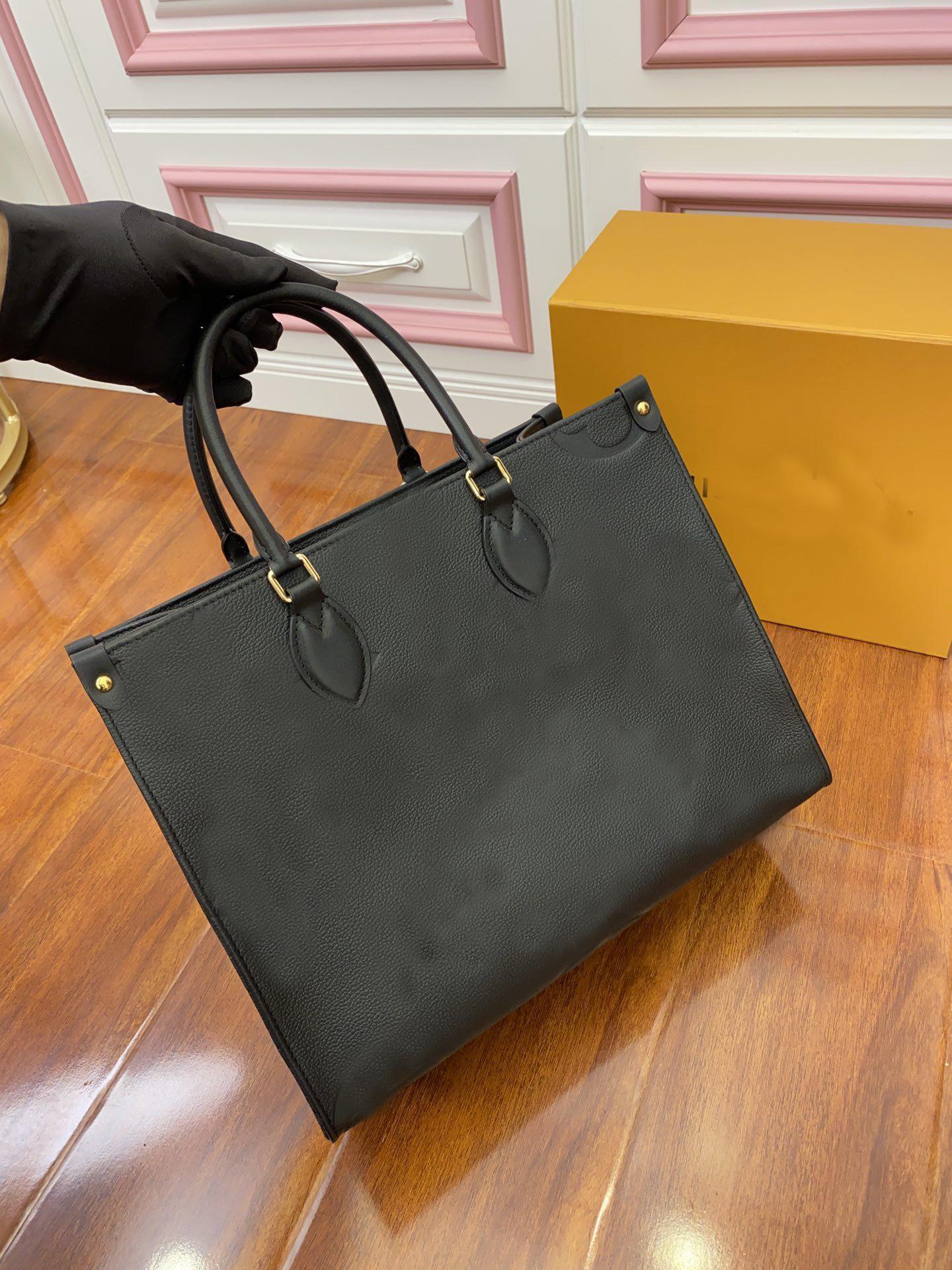 Moda onthego m44925 m44926 mulheres luxurys designers sacos genuínos bolsas de couro mensageiro crossbody bolsa de ombro totes carteira