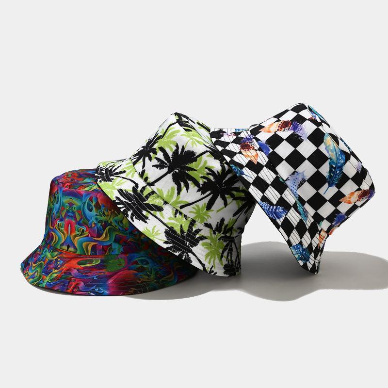 41 couleurs imprimées chapeau soleil chapeau adulte unisexe baquette chapeaux printemps casquettes d'été hip hop gorros hommes femmes pêcheur pliable pliable vintage casquette panama