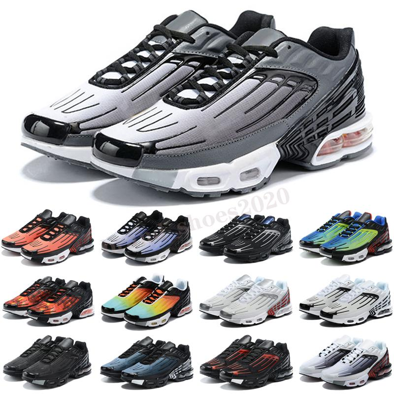 Plus 3 TN Turned MENS RUN Zapatos Top Fashion TN 3 Red Azul Negro Blanco Blanco Entrenadores deportivos al aire libre Zapatillas Tamaño 46